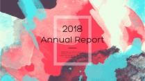 【全页设计】水彩总结报告工作计划商务策划模板01