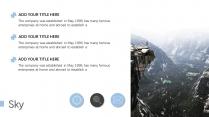 【蓝白商务】简洁商务山峰自然模板示例6