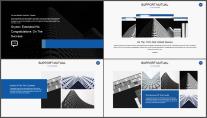 【商务大咖】三角几何公司企业个人年终工作总结PPT示例3