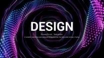 【变幻】科技粒子梦幻蓝紫创意PPT模板