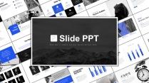 科技藍視覺化商務范簡約大氣通用PPT-21