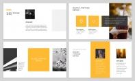 【极简风】黄色极简杂志风工作汇报PPT模板示例3