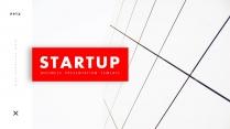 【欧美简约】创意红色线条代商务汇报工作总结模板