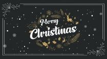 【复古】圣诞主题PPT | 送圣诞元素图标背景