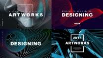 【空间艺术】创意抽象3D现代商务工作计划总结报告模