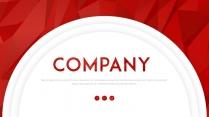 【熱烈】大氣紅色立體簡約商務ppt模板03示例2