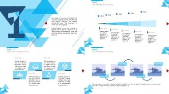 【时尚简约】清新大气三角形元素多用商务PPT模板示例3