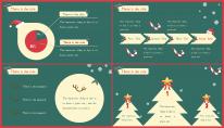 【复古】小清新圣诞简约报告PPT模板示例5