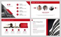 【经典商务】红色图表项目企业公司策划PPT模板示例3