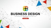 大气极简点线创意商务模板第三十一弹