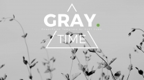 【灰色】绿色欧美极简简约杂志产品画册模板