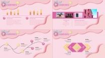 【小清新系列14】粉色花卉ppt模板示例5
