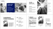 【分条析理D】蓝色科技极简大气商务工作总结年终汇报示例5