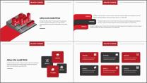 【商务大杀器】红黑简约公司企业年终工作通用PPT示例3