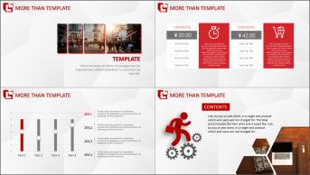 红黑庄重——图文混排商务设计模板示例6