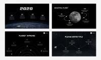 「宝藏系列」太空创意科技风汇报模板示例3