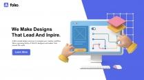 3D创意科技互联网公司企业项目工作汇报PPT