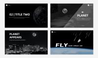 「宝藏系列」太空创意科技风汇报模板示例7