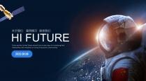 太空主题科技互联网公司企业工作PPT-3