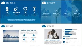 【实用为王】超级实用蓝色经典汇报销售PPT模板示例3