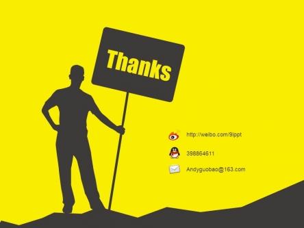 人物剪影·黑黄设计感商务通用模板