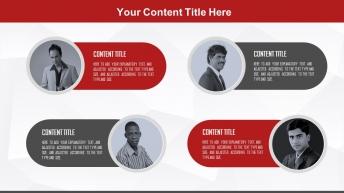 2015黑红图文混排创意商务总结汇报通用模板示例3