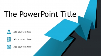 簡潔藍色折紙風商務keynote模板