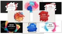 創意水彩總結報告工作計劃商務匯報合集(含八套)