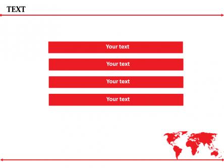 【红色箭头地图商务ppt模板】-pptstore