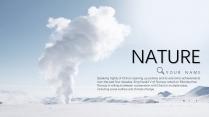 【藍白商務】簡潔商務山峰自然模板