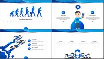 【商务中国】蓝色企业文化公司介绍工作通用PPT示例5