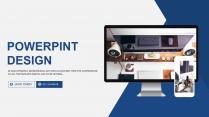 科技蓝互联网商务商业行业通用PPT模板