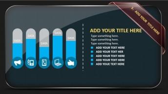 酷黑质感商务汇报类PPT模板(直接看视频)示例6