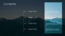 【蓝白商务】简洁商务山峰自然模板示例4