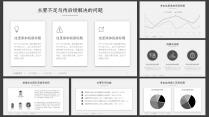 【精致视觉21】简素黑白灰论文答辩项目结题汇报模版示例7