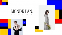 【蒙德里安主义】极简红黄蓝几何&人物图文艺术杂志
