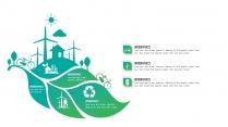 25套清新绿色环保行业工作汇报PPT图表示例7