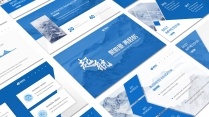 领航蓝色(三十)工作报告模板【201】