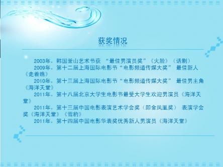 炫蓝梦幻明星个人介绍ppt模板