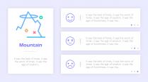 【多配色】简约实用清新网页风格多彩模板示例4