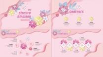 【小清新系列14】粉色花卉ppt模板示例3