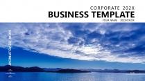 【湖光山色】蓝色极简大气商务工作总结年终汇报项目