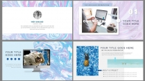 【水彩大理石纹】时尚艺术文化科技商务创意模版示例3