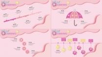 【小清新系列14】粉色花卉ppt模板示例4