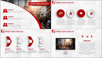 红黑庄重——图文混排商务设计模板示例3