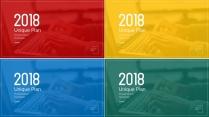 2018红黄蓝绿大气商务年终工作总结汇报模板(二)