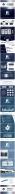 大气沉稳蓝紫条纹商务模板示例8