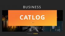 【简约商务】暗调商业计划网页杂志风PPT模板