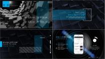 【杂志风商务报告模板15】深色欧美时尚科技品牌提案示例3