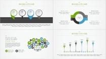 【蓝绿双色微立体商务图表04】创意关系图表25页